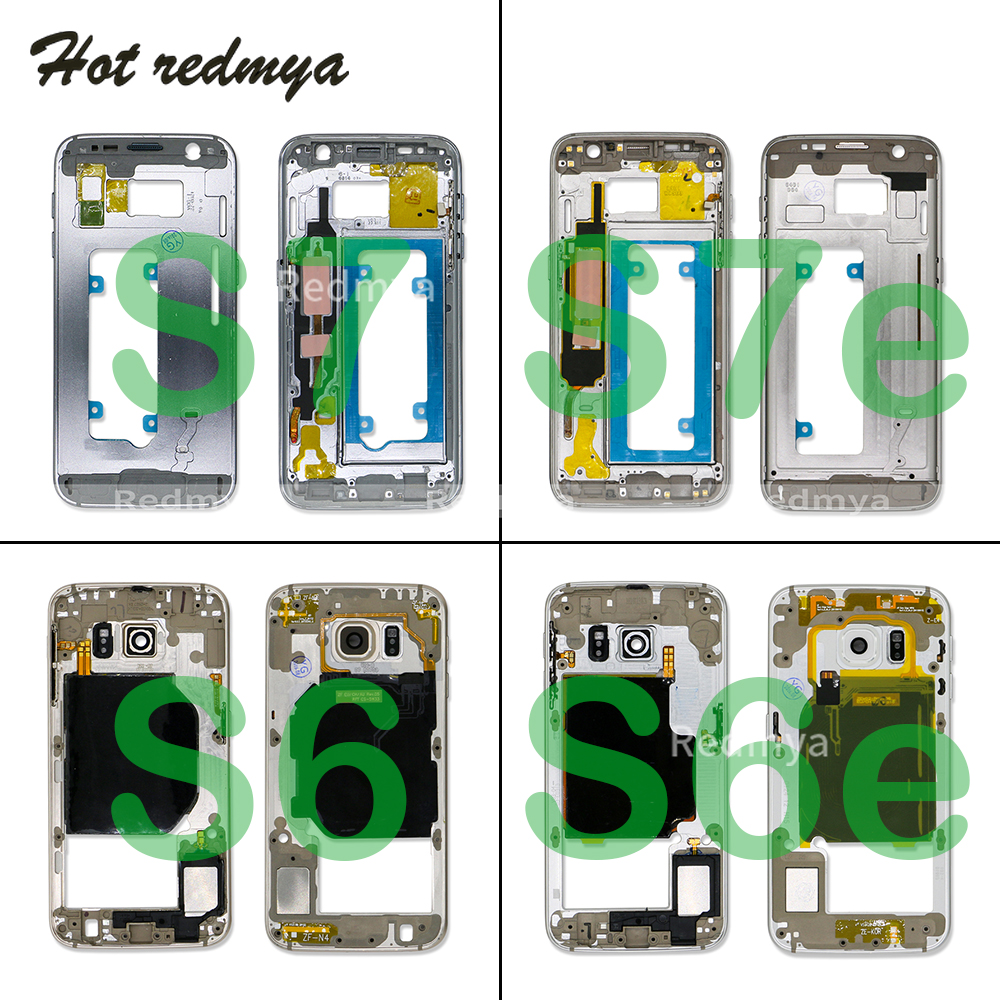 Middle Frame For Samsung Galaxy S6 Edge G920 G925 S7 Edge G930 G935 Frame Housing Chassis Plate Bezel Replacement Parts image