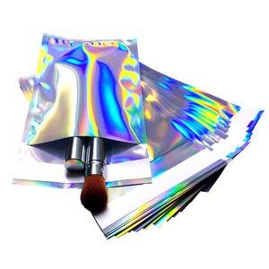 Image 3 - 100 stücke Laser Self Sealing Kunststoff Umschläge Mailing Lagerung Taschen Holographische Geschenk Schmuck Poly Klebstoff Kurier Verpackung Taschen