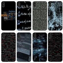De silicona de TPU transparente teléfono casos para iPhone X XR XS Max 8Plus 7 Plus 6 6s Plus SE 5 5S 5C 4 4S fórmula Matematica Fisica Stile