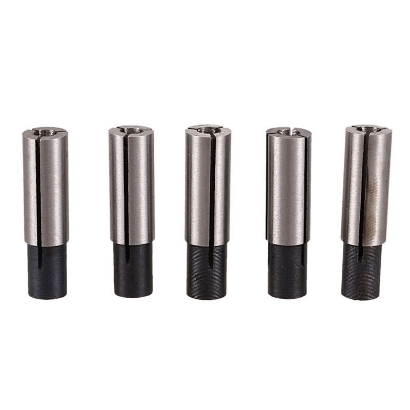 Cnc Engraving Bit Router Adapter Convert 1/4 Inch To 1/8 Inch For Engraving Machine Tool (Pack Of 5)