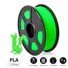Fast Delivery 3D Printer Filament PLA 1kg 1.75mm Tolerance +/-0.02mm Good Toughness Eco-friendly Printing Material for 3D Pen