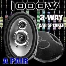 1Pair 1000W Universal Car Speaker 3-Way Tweeter Stereo Louds