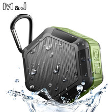 M & j ip67 alto falante bluetooth impermeável subwoofer potente mini alto falante portátil sem fio para telefone ao ar livre trabalhar na água