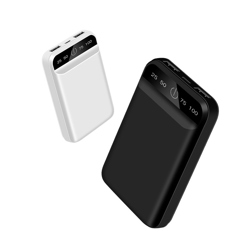 Mini <font><b>Power</b></font> <font><b>Bank</b></font> 10000mAh Portable Charger For iPhone Samsung Xiaomi <font><b>mi</b></font> Mobile External Battery Powerbank <font><b>10000</b></font> mAh Poverbank image