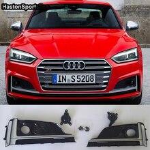 Для Audi S5 A5 передний противотуманный светильник противотуманная фара крышка решетка Стайлинг автомобильной решетки 2017 2018 2019 S5 A5 S line