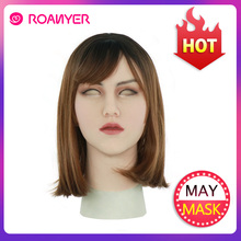 Roanyer עשוי Masken Crossdresser קוקסינל Masken עם עור מציאותי סיליקון Masken לטרנסג נדר זכר גרור מלכת קוספליי