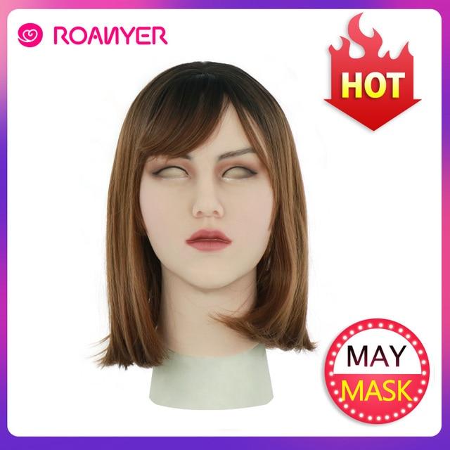 Roanyer May Masken Crossdresser Shemale Masken with Realistic Skin Silicone Masken for Transgender Male Drag Queen Cosplay