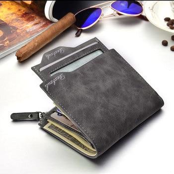 Men Soft Leather wallet with removable card slots multifunction men waterproof wallet purse male clutch with zipper Men Wallet фото