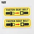 YJZT 2X 16,2 см × 5,3 см закрепить ремень безопасности наклейка меры предосторожности, безопасности из ПВХ с пряжкой на ремешке в автомобиля Стике...