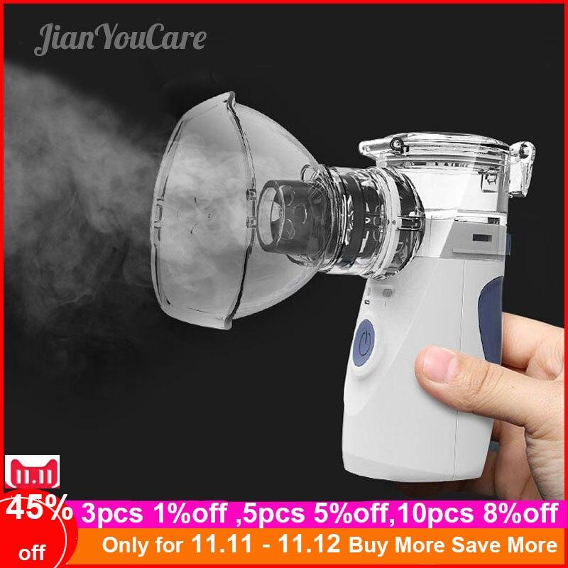 Health Care Mini Handheld Portable Inhale Nebulizer Silent Ultrasonic Inalador Nebulizador Children Adult Kids Inhaler Atomizer