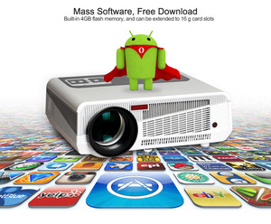 Image 4 - Смарт проектор светодиодный, 86 + wifi, 5500 лм, 1080p, HDMI, Android 6,0