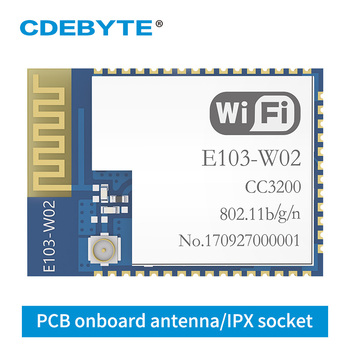 E103-W02 WIFI Transceivers CC3200 2.4GHz 100mW IPX PCB uhf Wireless 2.4 g Transmitter and Receiver Data Transmission image