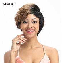 Благородные синтетические волосы парики 10 дюймов короткие волнистые светлые парики для черных женщин термостойкие синтетические волосы парик