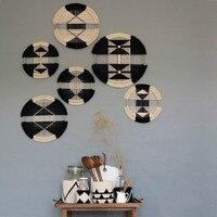 Macrame Wall Hanging Boho Decor Cotton Woven Creative Round Tapestry Mandala Restaurant Headboard Combination Wall Tapestry