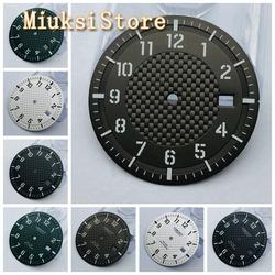 Corgeut 34mm black /white/coffee/green sterile watch dial fit NH35 movement