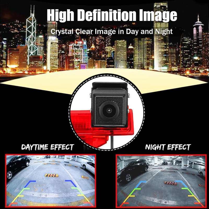 Автомобильная Hd камера заднего вида запасная камера тормозной Свет монтажный монитор для транспортера T5 и T6
