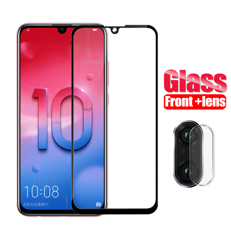 2-in-1 Protective Camera Glass Honor 10 Lite Tempered Glass Screen Protector on for Huawei Honor 10 10lite honor10 Glass safety image