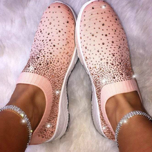 Discount Breathable Fashion Sneakers Loafers Socks Shoes Woman Bling Women Flats Shoes Casual Slip-On Platform Shoes Plus Size cootelili women sneakers platform casual shoes woman flats slip on letter loafers ladies black gray blue red plus size 40 41 42