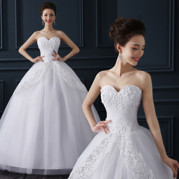 Ball Gown Wedding Dresses Sweetheart Off Shoulder Flower Bridal Gown Backless Sweep Train Bride Dress Plus Size Bryllupskjole