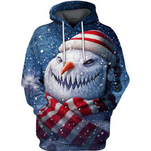PLstar Cosmos fantasy christmas Snowman  3d hoodies/shirt/Sweatshirt Winter long sleeve Pullover Fashion Harajuku streetwear