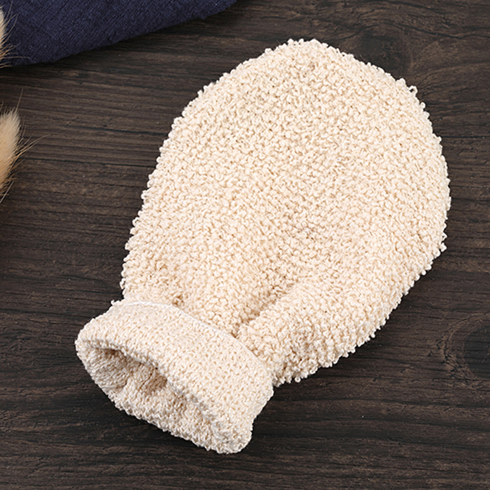 1PC Bath Gloves Exfoliating Skin Wash Foam Towel Massage Back Shower Scrubber Hemp Body Cleaning Towel Sponges