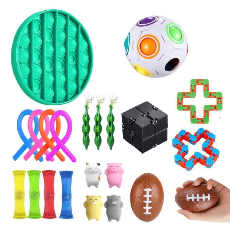 Игрушки-антистресс, набор игрушек-антистресс, тянущиеся струны, сетчатые мраморные рельефные игрушки для взрослых и девочек, игрушки для сн...
