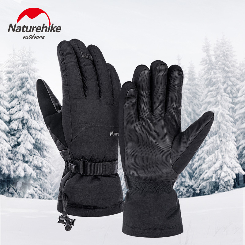 Naturehike 75% White Duck Down Waterproof Keep Warm Down Soft Shell Ski Glove Also For Cycling Skiing Thickening Non-slip Glove