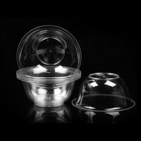 400 Pcs 11x5cm Plastic Bowl Transparent Dessert Disposable Small Bowl Kids Wedding Party Baby Disposable Tableware Round Bowls