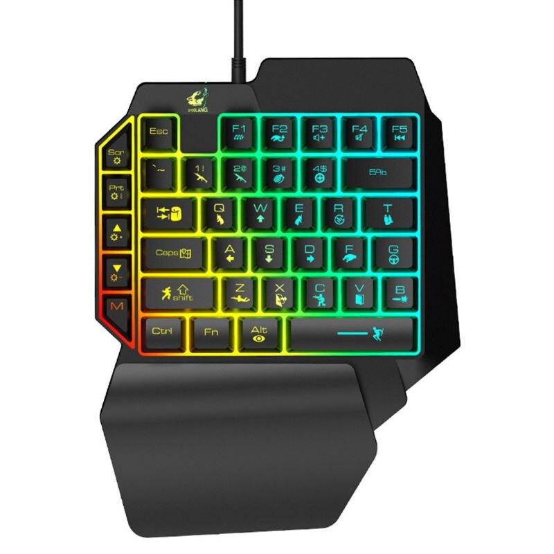 K15 One-handed Membrane Gaming Keyboard 35 Keys Backlit Single Hand Game Keypad 1