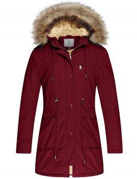 Manteau d'hiver femme polaire coton Parka militaire veste à capuche fourrure