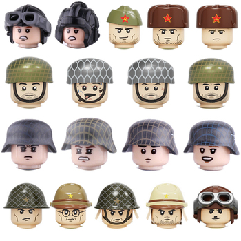 WW2 Army Soldiers Figures Weapon Building Blocks Army Soldiers Figures Helmet Weapons Parts Accessories Bricks Toy For Children 21pcs machine gun moc weapon pack military accessories blocks city police ww2 soldiers figures bricks parts compatible legoed
