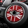Para MINI Cooper Countryman F60 volante de fibra de carbono Centro 3D pegatina cubierta de decoración Interior de estilo de coche