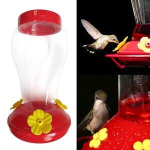 Jardim handheld boca larga beija-flor alimentador livre néctar terraço jardim janela pássaro presente configuração ferro gancho alimentador