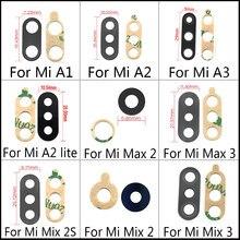 Original Voltar Camera Lens Substituição De Vidro Para Xiaomi Poco M3 F3 X3 Mi11Lite 5G Mi A1 A2 Lite A3 Mix 2 3 Mix2s MiX3 Max2 Max3