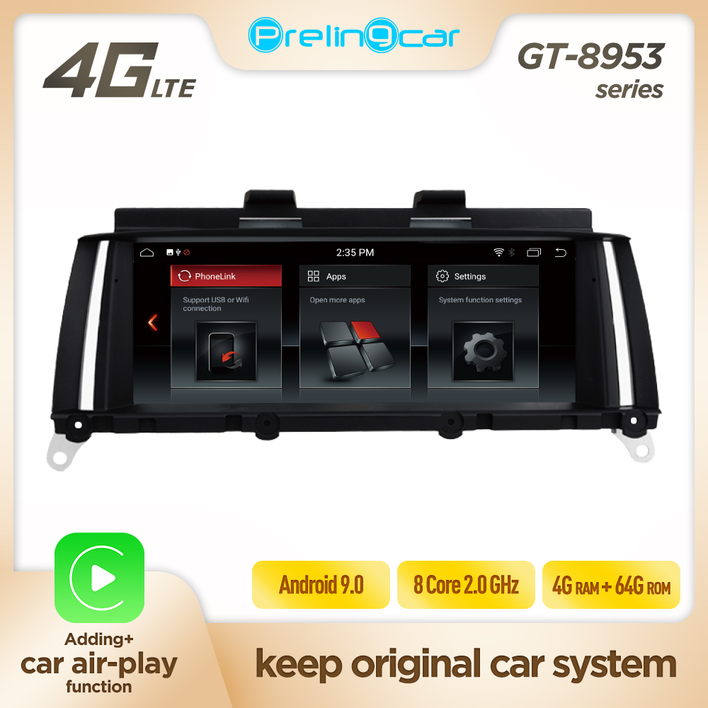 Prelingcar Android 9.0 2 din For BMW X3 F25 X4 F26 E83 2011 12 13 <font><b>14</b></font> 15 16 Car dvd radio Multimedia Player gps navigation 4G LTE image