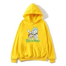 Autumn and winter hot print Rick Moti Sweatshirt Mens Anime Hoodie Funny Hooded Long Sleeve Casual Top Morti