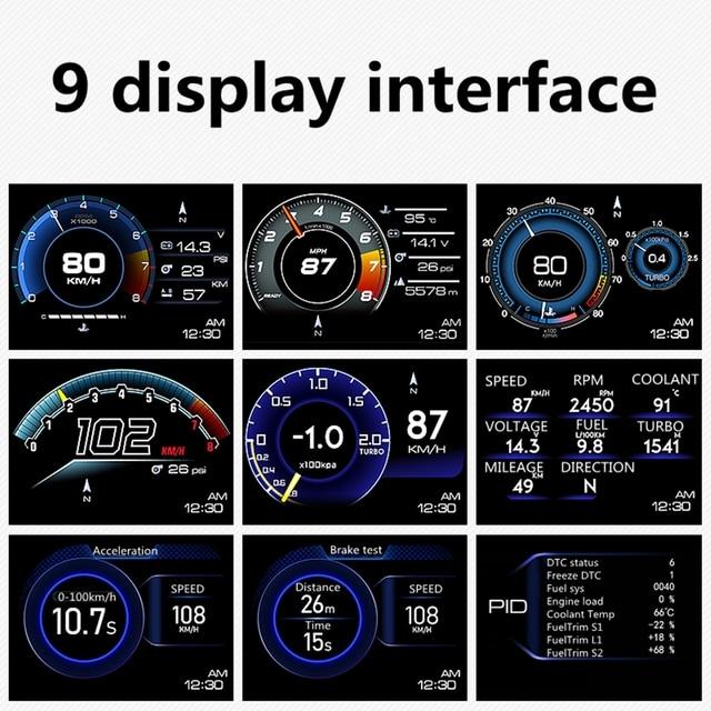 Obd+gps smart gauge obd+gps meter