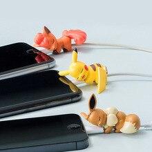 USB câble de charge morsures protecteur mignon dessin animé Animal téléphone câble organisateur chargeur enrouleur pour Android Ipad Iphone 11 7 7s 8 X