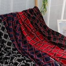 Tissu extensible imprimé losange, Polyester, Lycra, tissu à coudre pour bricolage, vêtements de mode, 45x165 Cm/pièce TJ1338