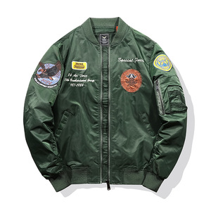 Image 1 - Thicken Thermal Pilot MA1 Jacket Men Tace & Shark Brand Embroidery Bomber Jacket Tactical Military Parka Men Plane Streetwear
