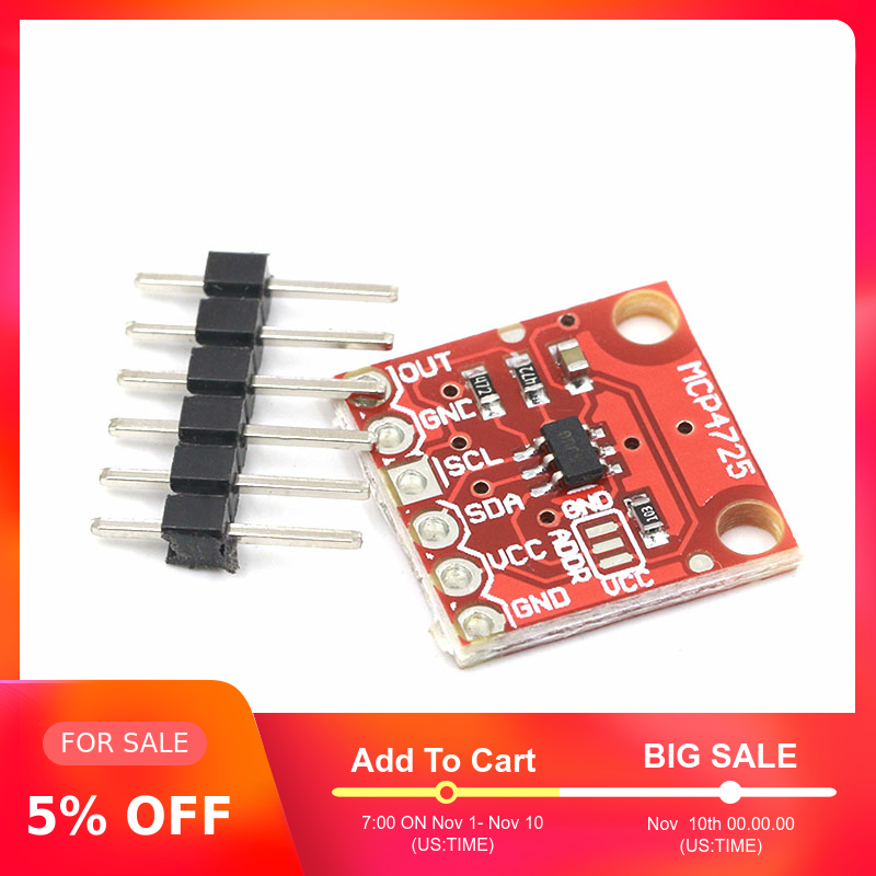 MCP4725 12Bit I2C DAC Digital Converter Module Digital To Analong EEPROM Development Board For Arduino 2.7V-5.5V
