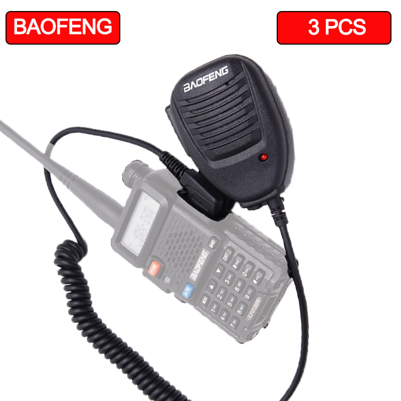 3PCS Baofeng Microphone Speaker Microphone For Walkie-talkies K Mouth Suitable Baofeng UV-5R UV-5RE UV-82 888s KSUN X30 KS-XKB