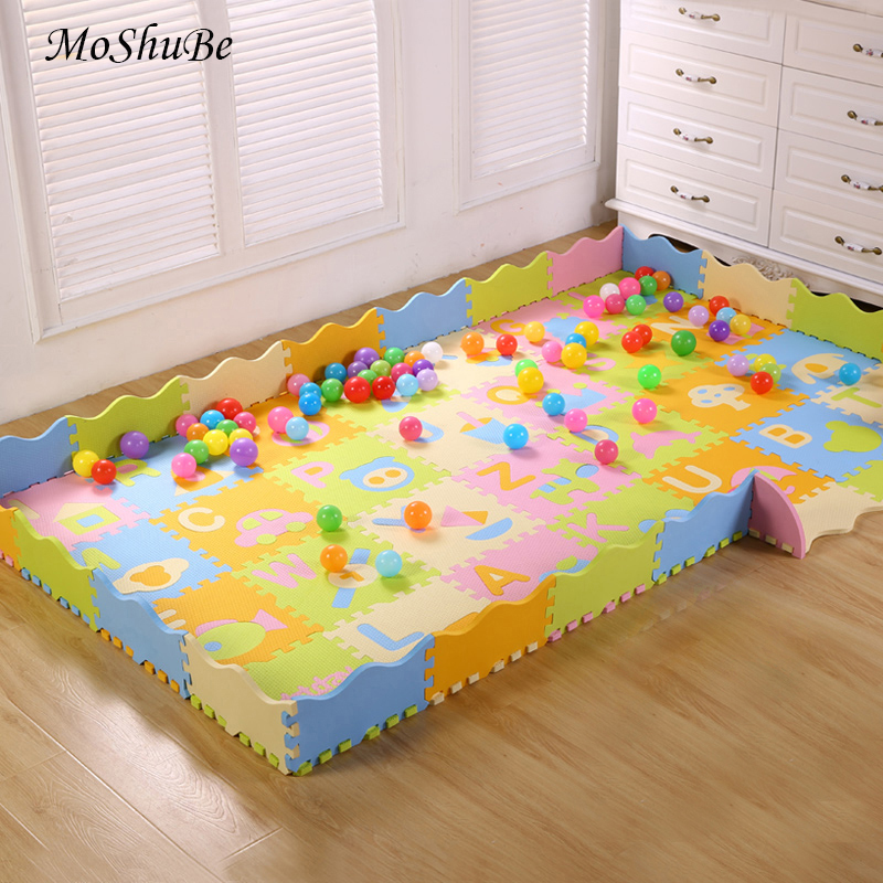 Children Climbing Mat Baby Foam Play Mat With Fence Interlocking Crawling Soft Floor Tiles For Kids Rug Activity Games Toys