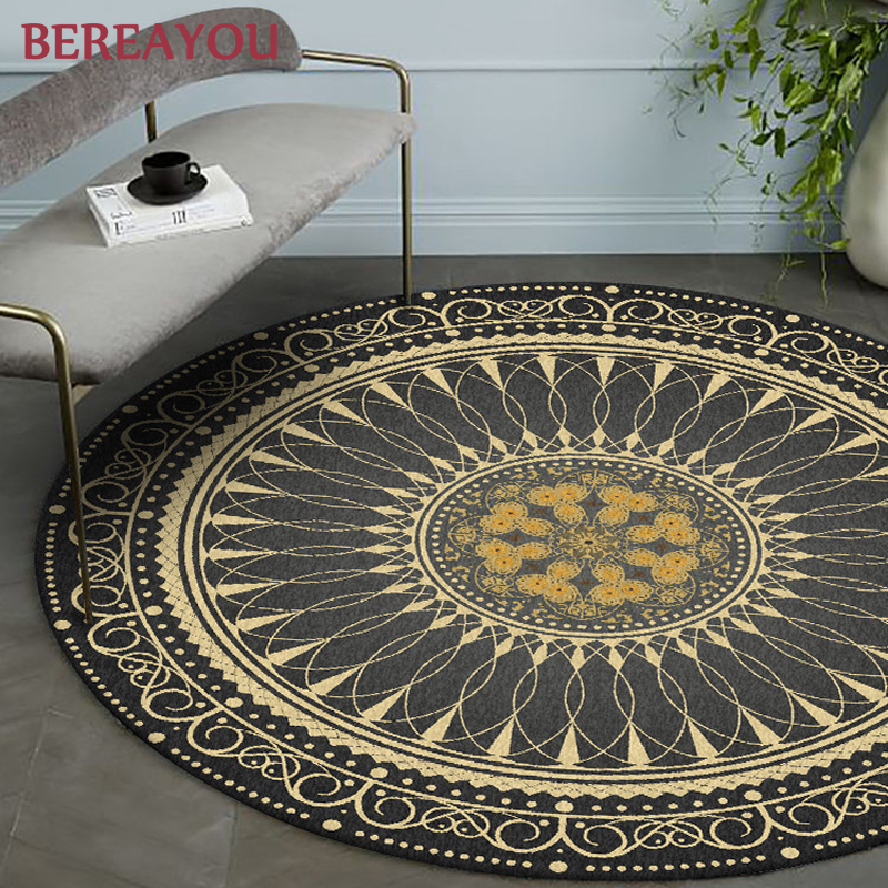 Round Rugs Morocco Carpet Bedroom Boho Style Area Rug Living room Ethnic Classic Tapestry Sofa Cushion Tatami Floor Mats tapis|Rug| |  - title=
