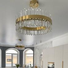 Plafonnier led en cristal au design moderne, couleur or ou Chrome, luminaire décoratif d'intérieur, idéal pour une chambre à coucher, une salle à manger ou un couloir, modèle 2020
