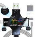 12 in 1 farbe PD USB tester DC Digital voltmeter strom spannung Typ-C meter amp amperemeter detektor power bank ladegerät anzeige