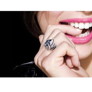 Image 4 - Lengkea مجوهرات الرجال خواتم 925 الاسترليني الفضة خواتم شخصية الإبداعية اللابرادوريت حجر كبير حجم افتتاح حلقة النساء مجوهرات