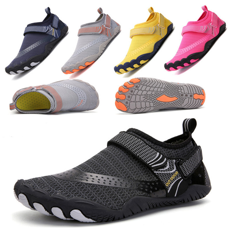 Unisex Swimming Water Shoes Men Barefoot Outdoor Beach Sandals Upstream Aqua Shoes Plus Size Nonslip River Sea Diving Sneakers