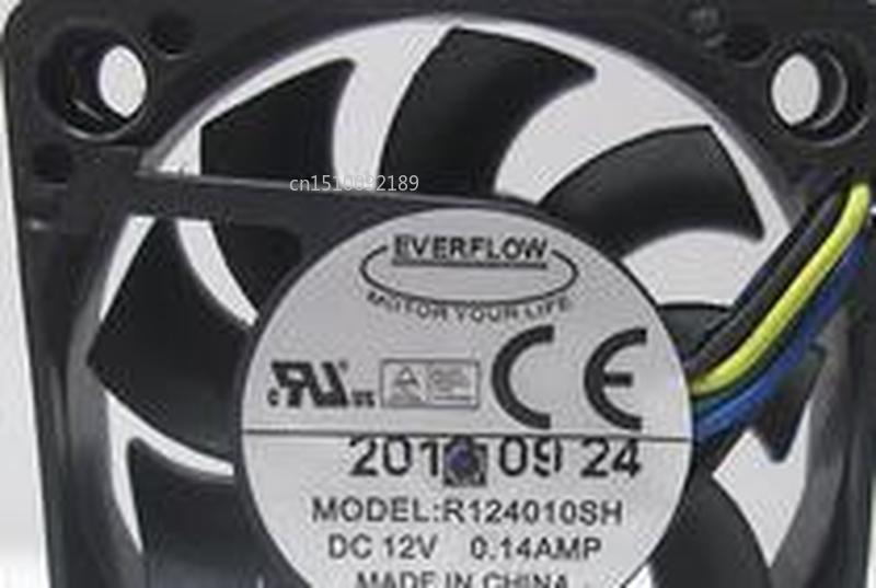 FOR R124010SH 12V 0.14A 4CM 4010 4-wire Cooling Fan Free Shipping
