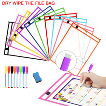 Transparent Dry Erase Pockets Whiteboard Markers File Write Dry Wipe Board for Teaching Supplies Wipe Drawing Dry Erase Board